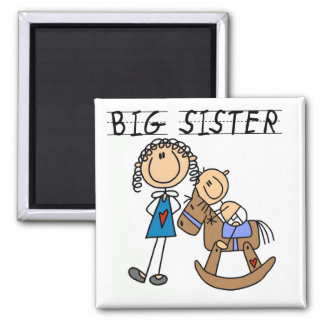 Big Sister Baby Brother T-shirts and Gifts Magnet