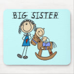 Big Sister Baby Brother T-shirts and Gifts Mouse Pads