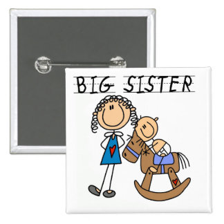 Big Sister Baby Brother T-shirts and Gifts Pinback Button