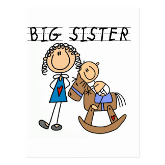 Big Sister Baby Brother T-shirts and Gifts Postcard