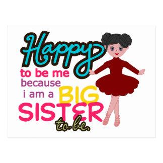 Big Sister Ballerina Postcard