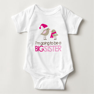 big sister birdies to be baby bodysuit