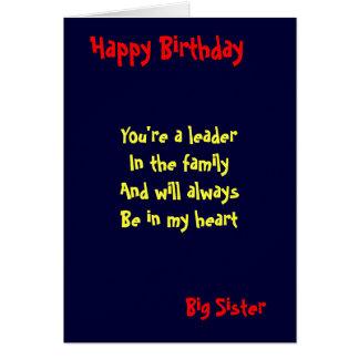 Big sister Birthday Greeting Card