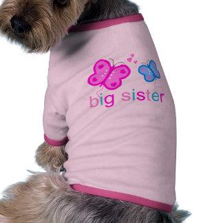 Big Sister Butterflies Dog T-shirt