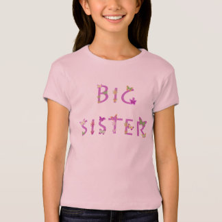 Big Sister, butterflies & flowers T-Shirt