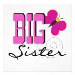 Big Sister - Butterfly Gifts Invite