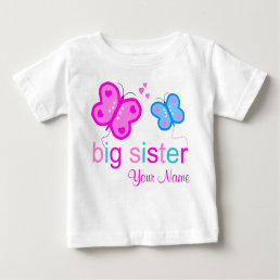 Big Sister Butterfly Personalized T-shirt
