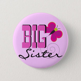 Big Sister Butterfly Tshirts and Gifts Button