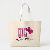 Big Sister Butterfly Tshirts and Gifts Large Tote Bag
