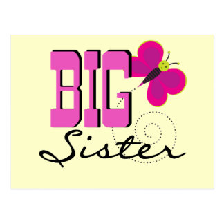 Big Sister Butterfly Tshirts and Gifts Postcard