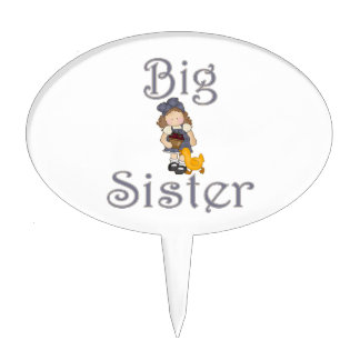 Big Sister Country Girl Duck Cake Pick