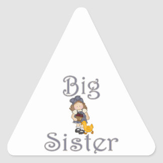 Big Sister Country Girl Duck Triangle Sticker