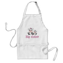 Big Sister Cow T-shirt Adult Apron