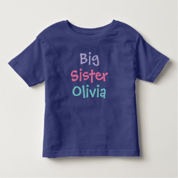 Big Sister Custom Name | Tee Shirt Design