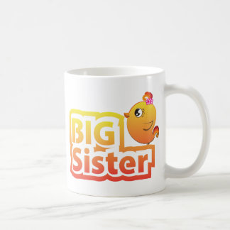 Big sister cute baby chicken bird mug