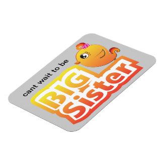 Big sister cute baby chicken bird premium magnet