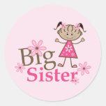 Big Sister Ethnic Stick Figure Girl Sticker