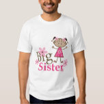 Big Sister Ethnic Stick Figure Girl T-Shirt