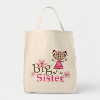 Big Sister Ethnic Stick Figure Girl Tote Bag