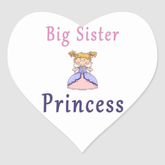 Big Sister Fairy Princess Heart Sticker