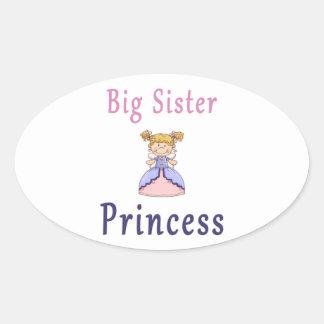 Big Sister Fairy Princess Oval Sticker