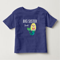 Big Sister Faux Foil Blonde Mermaid Girls Kids Toddler T-shirt