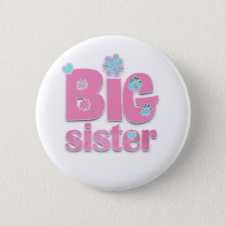 Big Sister Flower Button