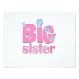 Big Sister Flower Card
