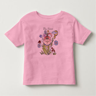 Big Sister Flower Garden Fairy Toddler T-shirt