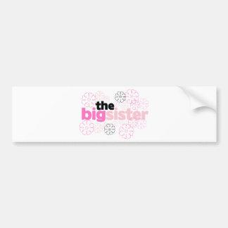 Big Sister Flower T-shirt Bumper Sticker