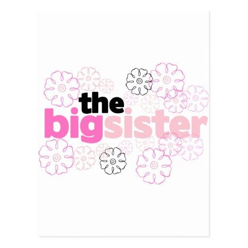 Big Sister Flower T-shirt Postcard
