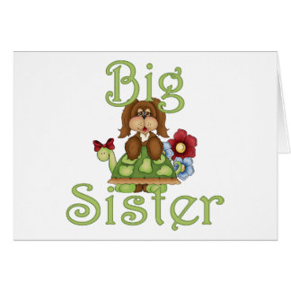 Big Sister Fluffy Pup 2 Card
