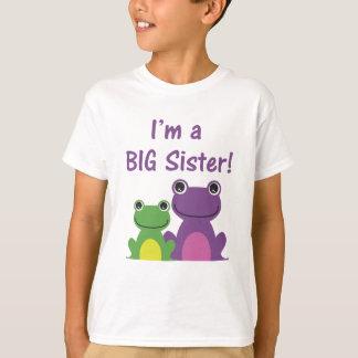Big Sister Frog Sibling T (Purple/Green) T-Shirt