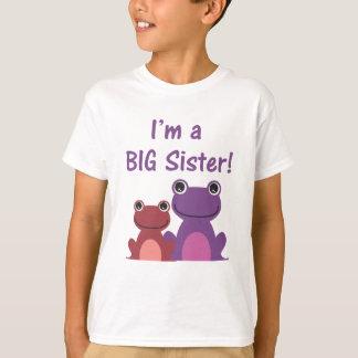 Big Sister Frog Sibling T (Purple/Pink) T-Shirt