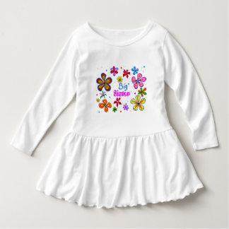 Big Sister Funky Retro Floral Art Tee Shirts