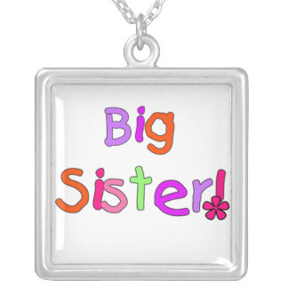 Big Sister Gifts Silver Plated Necklace