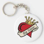 Big Sister Heart Tattoo Key Chain