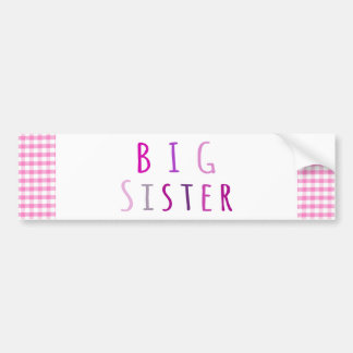 Big Sister in Pink Bumper Sticker