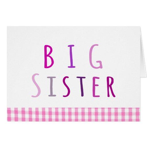 Big Sister in Pink Card