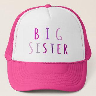 Big Sister in Pink Trucker Hat