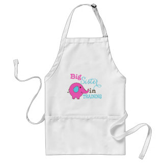 Big Sister in Training Elephant Adult Apron