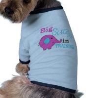 Big Sister in Training Elephant Doggie Tee Shirt