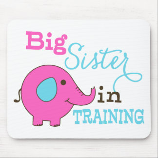Big Sister in Training Elephant Mouse Pad