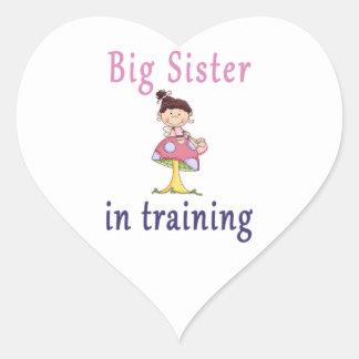 Big Sister In Training Fairy Heart Sticker