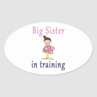 Big Sister In Training Fairy Oval Sticker