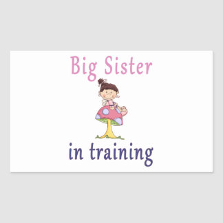 Big Sister In Training Fairy Rectangular Sticker
