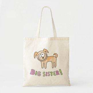 Big sister kids bag with funny cute cartoon dog