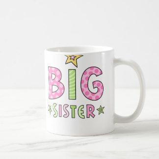 Big sister kids mug with stars