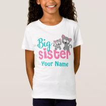 Big Sister Kitty Cat Personalized Shirt