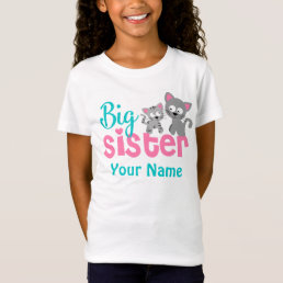 Big Sister Kitty Cat Personalized Shirt